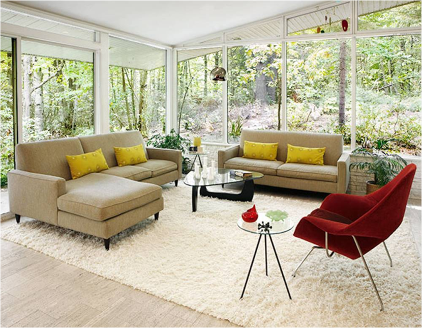 Beige sofa with yellow cushions completed with stylish Quick Fix Design  5 Easy Ways to Refresh Your Plain Beige Sofa  . Living Room Paint Ideas Beige Furniture. Home Design Ideas